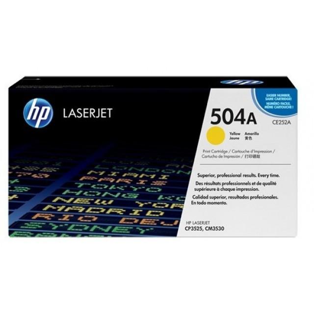HP CE252A изкупуване на празна жълта тонер касета
