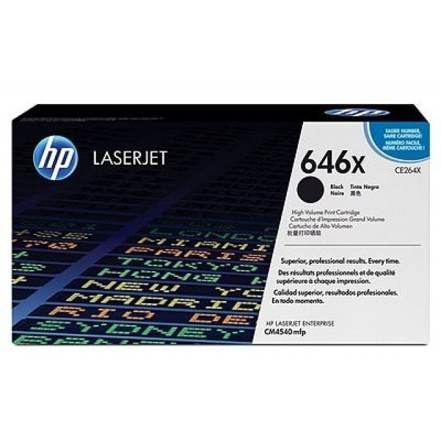 HP CE264X оригинална черна тонер касета 646X