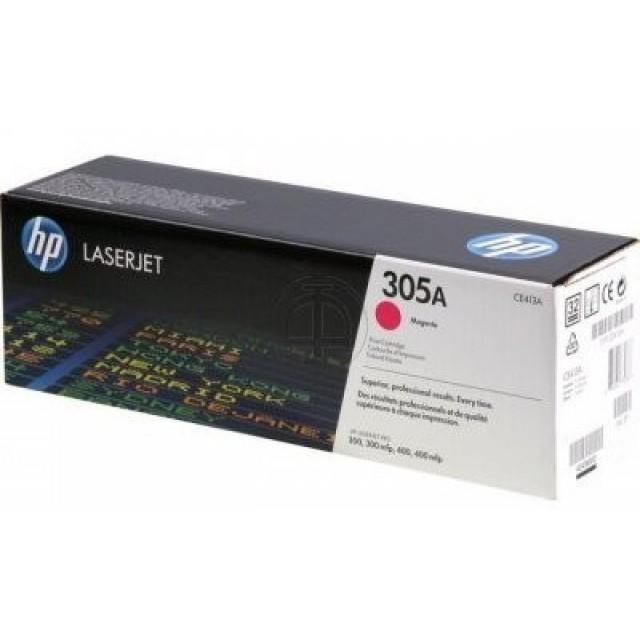 HP CE413A оригинална червена тонер касета 305A
