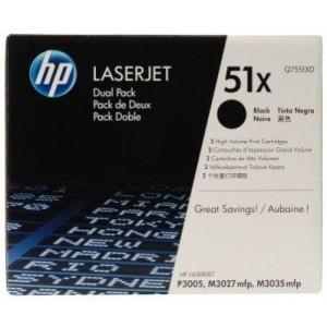 HP Q7551XD двоен пакет оригинални черни тонер касети 51X