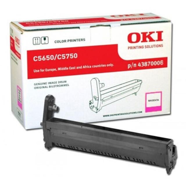 OKI 43870006 оригинален червен барабанен модул за C5650/C5750