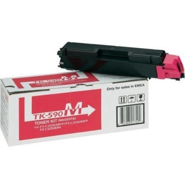 Kyocera TK-590M оригинална червена тонер касета