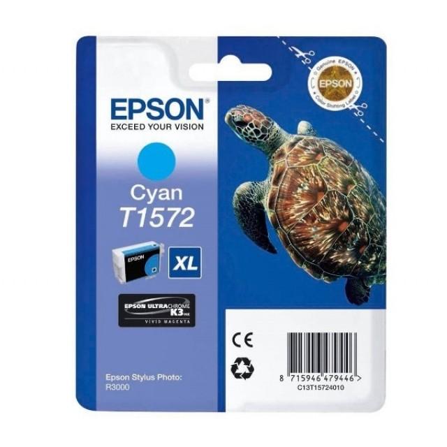 Epson T1572XL синя мастилена касета