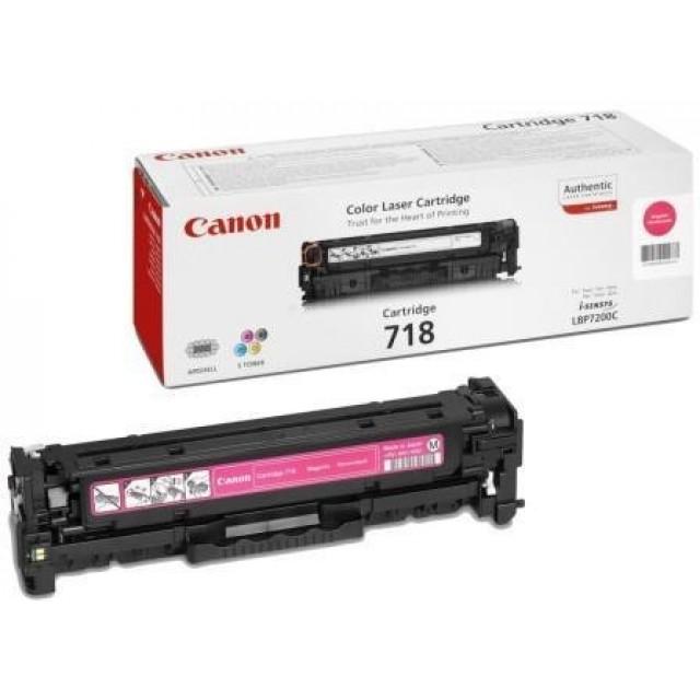 Canon CRG-718M оригинална червена тонер касета