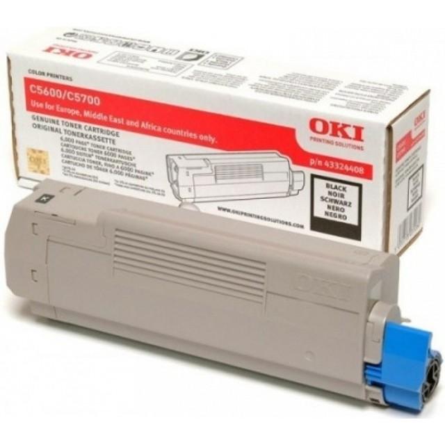 OKI 43324408 оригинална черна тонер касета за C5600/C5700