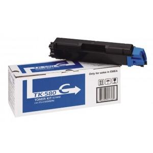 Kyocera TK-580C оригинална синя тонер касета