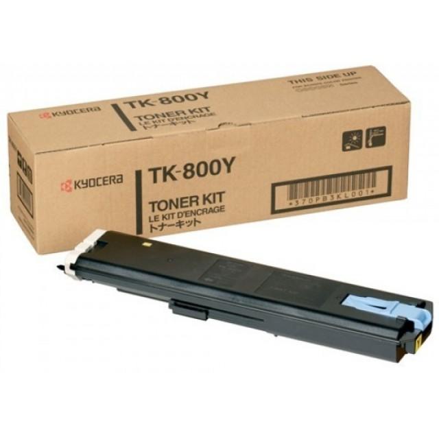 Kyocera TK-800Y оригинална жълта тонер касета