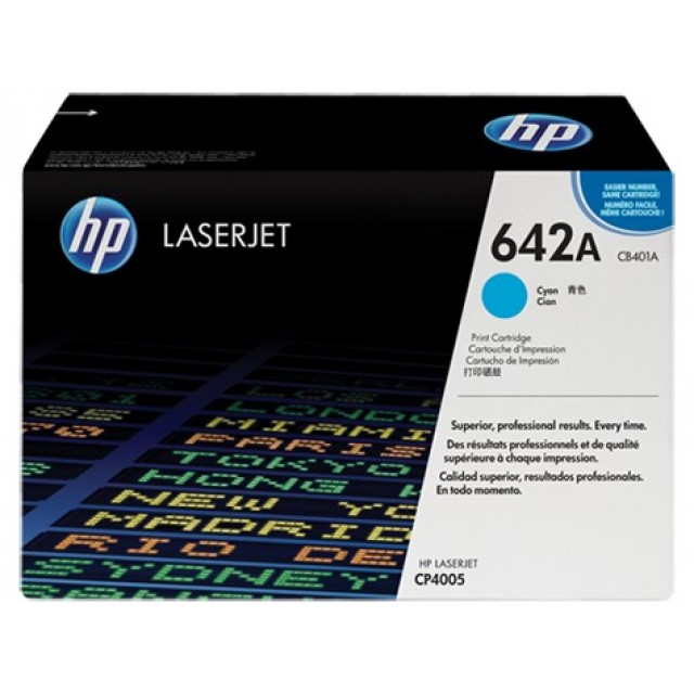 HP CB401A оригинална синя тонер касета 642A