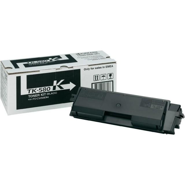 Kyocera TK-580K оригинална черна тонер касета