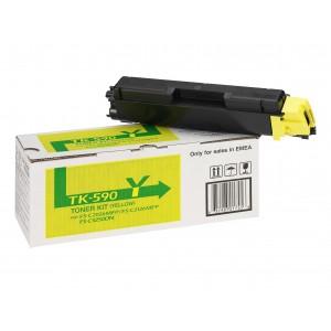 Kyocera TK-590Y оригинална жълта тонер касета