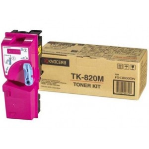 Kyocera TK-820M оригинална червена тонер касета