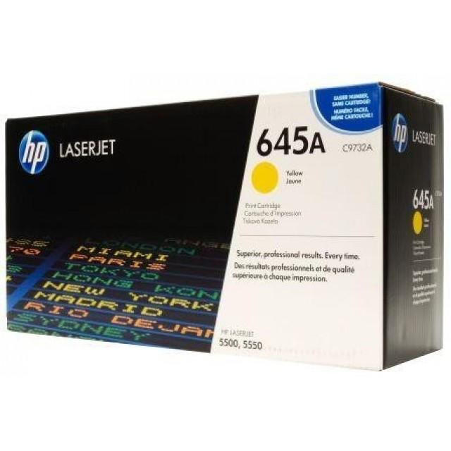 HP C9732A оригинална жълта тонер касета 645A