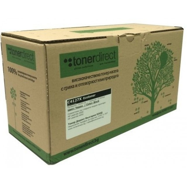 Ecotoner HP CE400X черна касета за 11000 стр.
