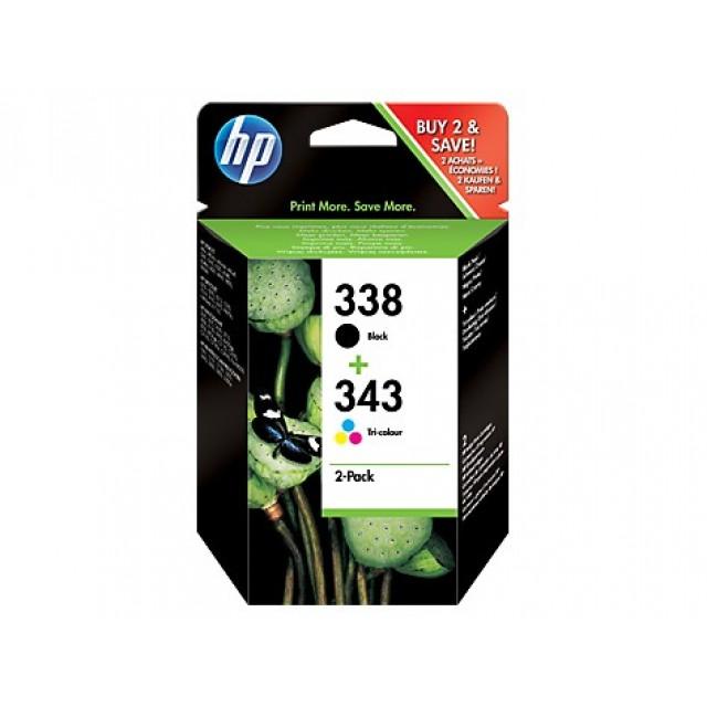 HP SD449EE черна и трицветна мастилени касети 338/343