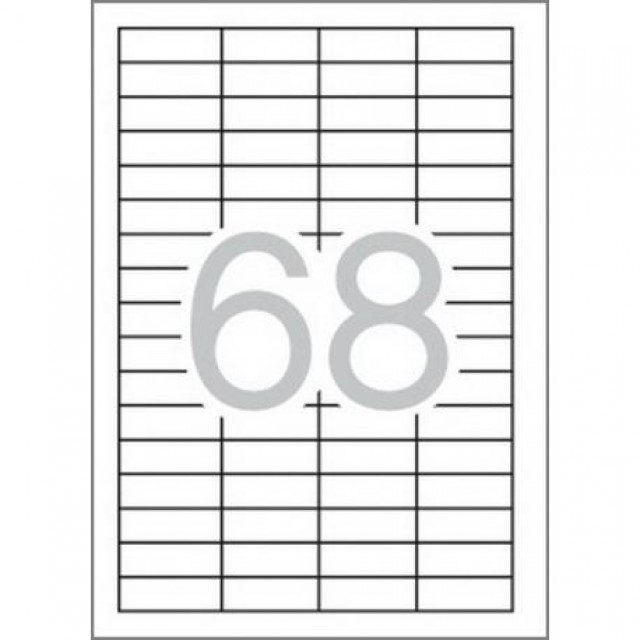 Самозалепващи етикети MULTI 3, 48.5x16.9 mm