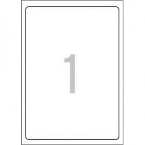 Етикети 199,6x289,1 mm, самозалепващи MULTI 3