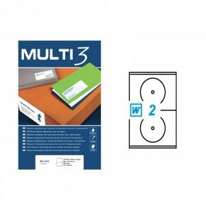 Етикет за CD/DVD 117/18, самозалепващи MULTI 3