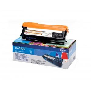 Brother TN-320C оригинална синя тонер касета