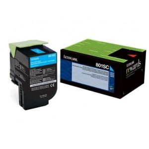 Lexmark 80C2SC0 оригинална синя тонер касета (Return Program)