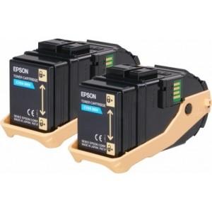 Epson C13S050608 двоен пакет оригинални сини тонер касети