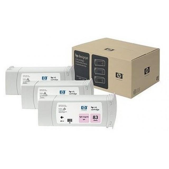 HP C5077A пакет 3 светло червени UV мастилени касети 83