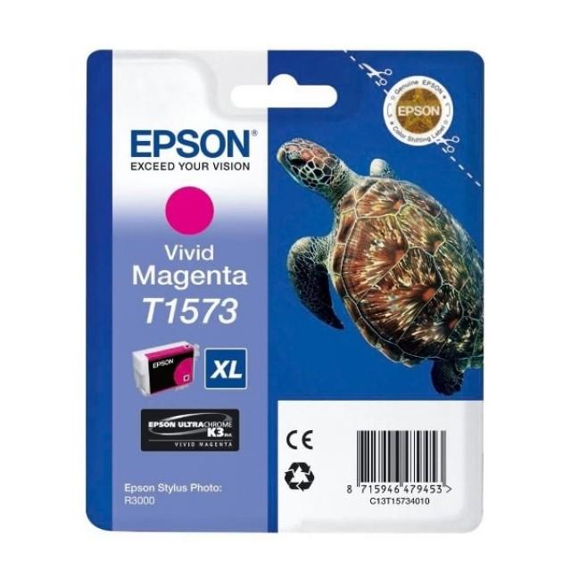 Epson T1573XL яркочервена мастилена касета
