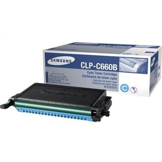 Samsung CLP-C660B оригинална синя тонер касета
