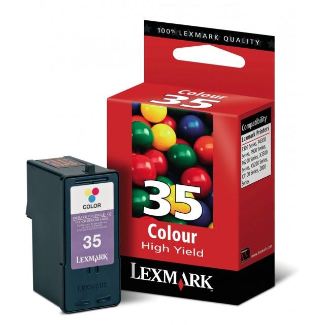 Lexmark 18C0035E трицветна мастилена касета 35
