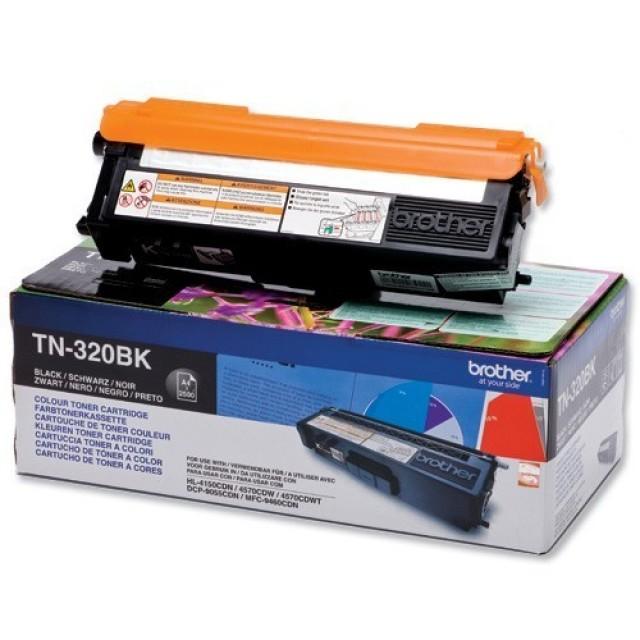 Brother TN-320BK оригинална черна тонер касета