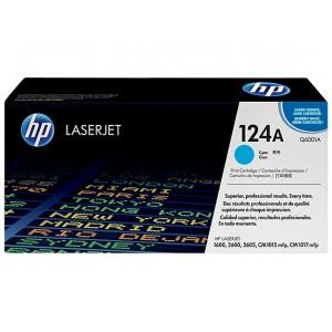 HP Q6001A оригинална синя тонер касета 124A