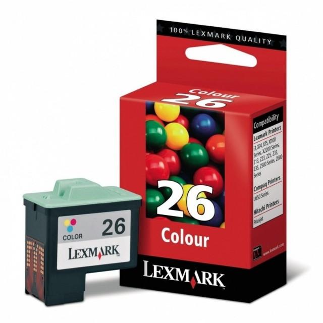 Lexmark 10N0026E трицветна мастилена касета 26