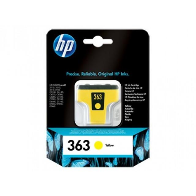 HP C8773EE жълта мастилена касета 363