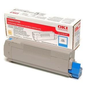 OKI 43381907 оригинална синя тонер касета за C5600/C5700