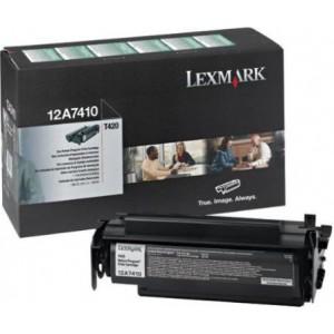 Lexmark 12A7410 оригинална черна тонер касета (Return Program)