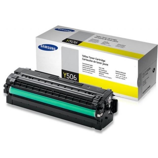 Samsung CLT-Y506L оригинална жълта тонер касета