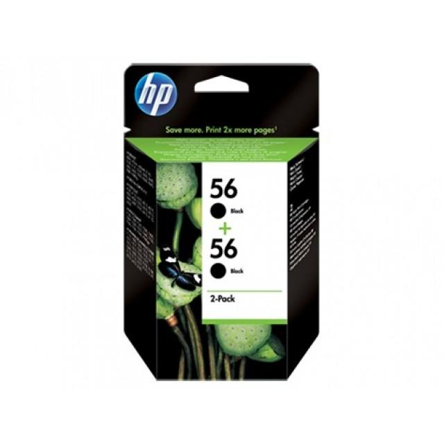 HP C9502AE двоен пакет черни мастилени касети 56