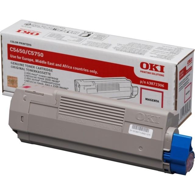 OKI 43872306 оригинална червена тонер касета за C5650/C5750