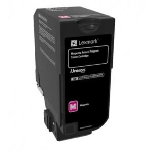 Lexmark 74C20M0 оригинална червена тонер касета (Return Program)