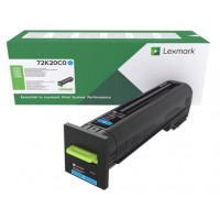 Lexmark 72K2XC0 оригинална синя тонер касета (Return Program)