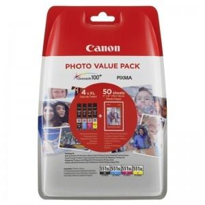 Canon CLI-551XL комплект C/M/Y/K мастилени касети
