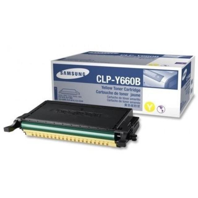 Samsung CLP-Y660B оригинална жълта тонер касета