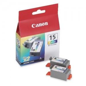 Canon BCI-15 двоен пакет трицветни мастилени касети