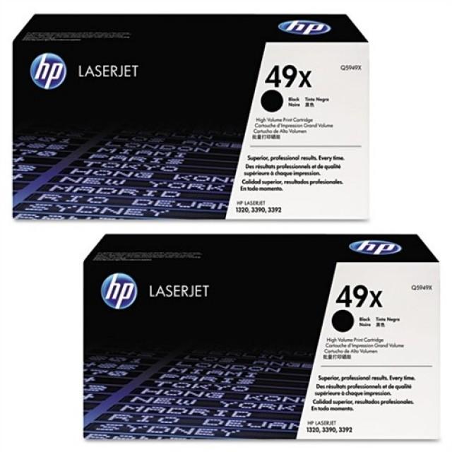 HP Q5949XD двоен пакет оригинални черни тонер касети 49X