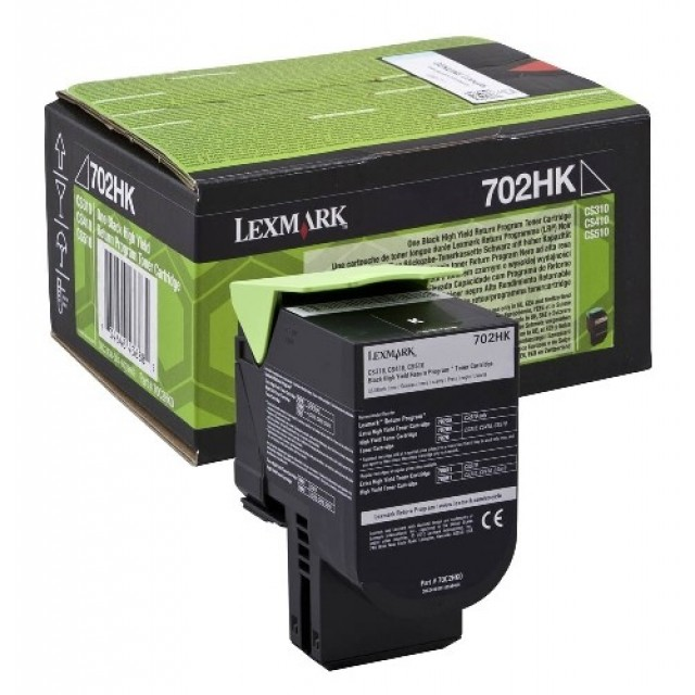 Lexmark 70C2HK0 оригинална черна тонер касета (Return Program)