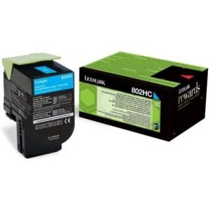 Lexmark 80C2HC0 оригинална синя тонер касета (Return Program)