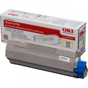 OKI 43872305 оригинална жълта тонер касета за C5650/C5750