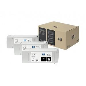 HP C5072A пакет 3 черни UV мастилени касети 83