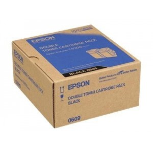 Epson C13S050609 двоен пакет оригинални черни тонер касети