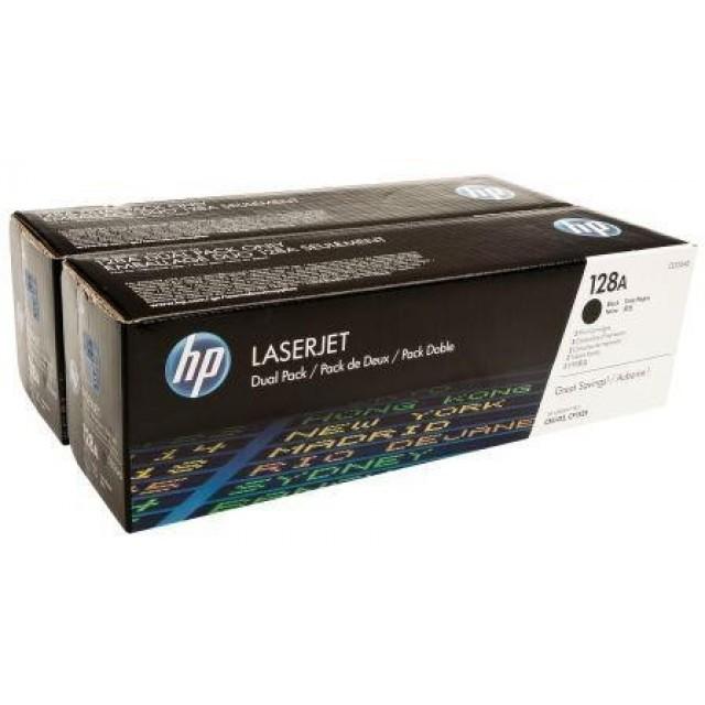 HP CE320AD двоен пакет оригинални черни тонер касети 128A