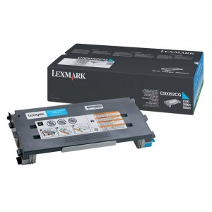 Lexmark C500S2CG оригинална синя тонер касета